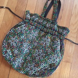 Vintage 60s Beaded Candy Dot Purse